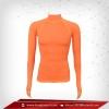 เสื้อรัดกล้ามเนื้อ รุ่นนิ้วสอด แขนยาวคอตั้ง สีส้ม darkorange