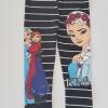 H&M : เลกกิ้ง สกรีนลายขวาง เจ้าหญิงแอนนา เอลซ่า สีดำ size : 2-4y / 10-12y