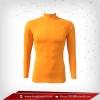 เสื้อรัดกล้ามเนื้อ แขนยาวคอตั้ง สีส้ม orange