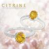 แหวนพลอยประจำวันเกิดวันจันทร์ ตัวเรือนเงินแท้ ประดับพลอยซิทริน (citrine)
