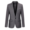 Eozy Men Fashion Business Leisure Thin Coats Casual Office Suits Jackets(Grey) (รุ่น 2BNHg1i043)