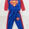 Carter's : Set เสื้อแขนยาว+กางเกงขายาว ลาย Superman สีน้ำเงิน เนื้อผ้า นิ่ม ไม่หนามาก size 1y / 2y