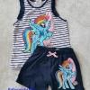 Set Pony เสื้อกล้ามลายขวาง+กางเกงขาสั้น size : 4-6y / 6-8y / 8-10y