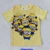 H&M : เสื้อยืด สีเหลือง สกรีนลายมินเนียน size 1.5-2y