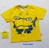 ME : เสื้อยืดสกรีน ลายมินเนียน สีเหลือง ( Kevin ) Size : L (8-10y)