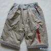 POLO : กางเกงขาสั้น สีกากี (ความยาวประมาณเข่า) เอวยางยืด size 12