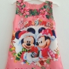 Zara Kids : เดรสพิมพ์ลาย มิกกี้ มินนี่เมาส์ คริสมาสต์ สีชมพู Size : 1y / 4y / 7y / 8y