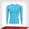 เสื้อรัดรูป Bodyfit แขนยาวคอกลม สีฟ้า lightskyblue