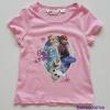 H&M : เสื้อยืดสกรีนลายเจ้าหญิงแอนนา เอลซ่า สีชมพู size : 6-8y / 10-12y