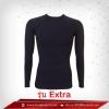 เสื้อรัดรูป Bodyfit แขนยาวคอกลม สีดำ รุ่น Extra (สุดยอดผ้ายืดผิวผ้าลื่น)