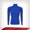 เสื้อรัดกล้ามเนื้อ แขนยาวคอตั้ง สีฟ้า mediumblue