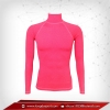 Body Fit / Base Layer เสื้อรัดรูป คอตั้ง แขนยาว สีชมพู deeppink