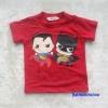 H&M : เสื้อยืด สกรีนลาย Best super friends สีแดง size 6-8y
