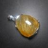 จี้แก้วไหมทอง เส้นสวย แก้วน้ำงาม ขนาด2.6x 2.2mm