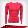 เสื้อรัดรูป Bodyfit แขนยาวคอกลม สีแดง red