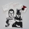 H&M : เสื้อยืด ลาย Batman&Superman สีขาว size : 4-6y