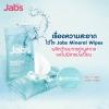 แจ๊บส์ ผ้าเช็ดทำความสะอาด น้ำแร่ธรรมชาติ Jabs Mineral Wipes (10 แผ่น)