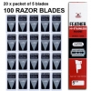 ใบมีดสองคม ขนนก FEATHER Hi-Stainless Blades Double Edge