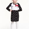 H&M : เดรสแขนยาว Hello Kitty สีดำจุด size : 1.5-2y / 4-6y / 10-12y / 12-14y