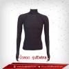 เสื้อรัดกล้ามเนื้อ นิ้วสอดแขนยาวคอตั้ง สีดำ รุ่น Extra สุดยอดผ้ายืดผิวผ้าลื่น