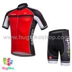 ชุดจักรยานแขนสั้น Volegarb 16 (19) สีแดงดำ