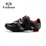รองเท้าจักรยานเสือหมอบ TIEBAO รุ่น TB16-B1330 สีดำขาวแดง ตัวรัดออโต้