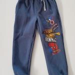 HM : กางเกงขายาว ขาจั๊ม สีน้ำเงิน สกรีนลาย Hero size : 1.5-2y / 2-4y