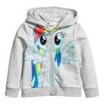 H&M : เสื้อแจ็กเก็ต กันหนาว ลายม้าโพนี่ ด้านหลังมีปีก สีเทา size : 1-2y