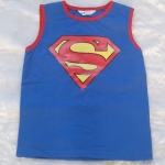 H&M : เสื้อกล้ามสีน้ำเงิน สกรีนลาย Superman size : 2-4y / 4-6y / 8-10y