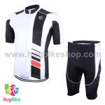 ชุดจักรยานแขนสั้น Volegarb 16 (20) สีขาวดำ