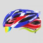 หมวกกันน็อคจักรยาน BaseCamp รุ่น BC-018 มีแว่นในตัว