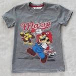 H&M เสื้อ mario สีเทา Size : 6-8y