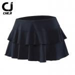 กระโปรงจักรยานสำหรับผู้หญิง CheJi (เฉพาะกระโปรง) สีดำล้วน