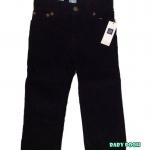 GAP : กางเกงลูกฟูกขายาว สีกรม size : 12-18m / 2y / 5y