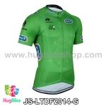 เสื้อจักรยานแขนสั้นทีม Le tour de france 2014 สีเขียว