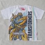 เสื้อยืด Transformers สีขาว มีลายทั้งหน้าและหลัง size : M (6-8y)