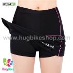 กระโปรงกางเกงจักรยานสำหรับผู้หญิงสีดำชมพู WOSAWE (กระโปรง+กางเกง)