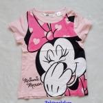 H&M : เสื้อยืด พิมพ์ลายมินนี่เมาส์ สีชมพู size : 10-12y