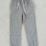 Rebel : กางเกงยาวขาจั๊ม สีเทา ข้างในผ้าสำลี size : 1-2y