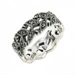 แหวนใบมะกอกแหวนเสริมดวงการงาน แหวนเงินแท้มาร์คาไซท์ จาก สวารอฟกี้