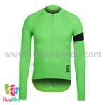 เสื้อจักรยานแขนยาวทีม Rapha 16 (11) สีเขียวปลอกแขนดำ