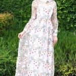 Dress คอกลมแขนยาว