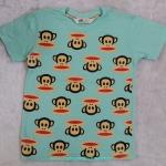 H&M : เสื้้อยืดสกรีนลายพอลแฟรงค์ สีเขียวมินท์ Size : 4-6y / 6-8y / 8-10y