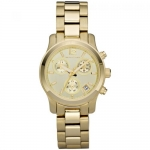 นาฬิกาข้อมือ Michael Kors MK5384 Small Runway Gold-tone Stainless Steel Chronograph Ladies Watch Size 33 mm