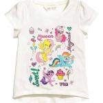 H&M : เสื้อยืด สกรีนลายม้าโพนี่ สีขาว (งานช้อป) size : 1-2y / 2-4y / 8-10y / 10-12y