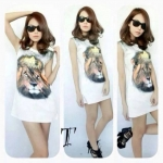Dress พิมลายสิงโต