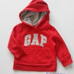 Gap : กันหนาว Gap แบบสวมมีฮูด สีแดง Size 12-18m