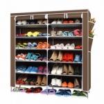 ชั้นวางรองเท้า 6 ชั้น จำนวน 42 คู่ (สีน้ำตาล)