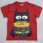 H&M : เสื้อยืด สกรีนลาย Minion Batman สีแดง Size : 8-10y / 10-12y