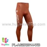 กางเกงจักรยานขายาวทีม AG2RLA Mondiale 14 สีน้ำตาล สั่งจอง (Pre-order)